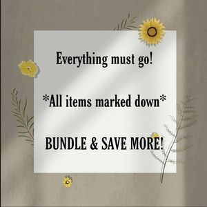 ALL ITEMS MARKED DOWN! 🌻🌱✨
